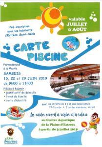 CARTES DE PISCINE