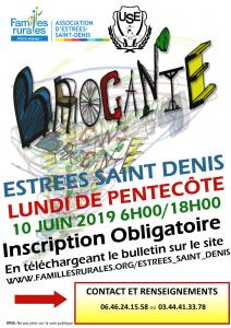 Brocante du lundi de Pentecote 10 juin 2019