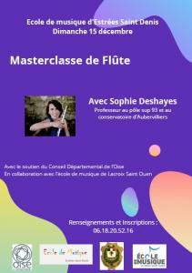 Masterclasse de flûte, 15 décembre 19