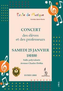 Concert des élèves et professeurs de l'école municipale de musique
