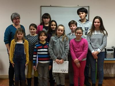 6 fev 19. Ecole de musique, audition de Piano, classe de Michèle